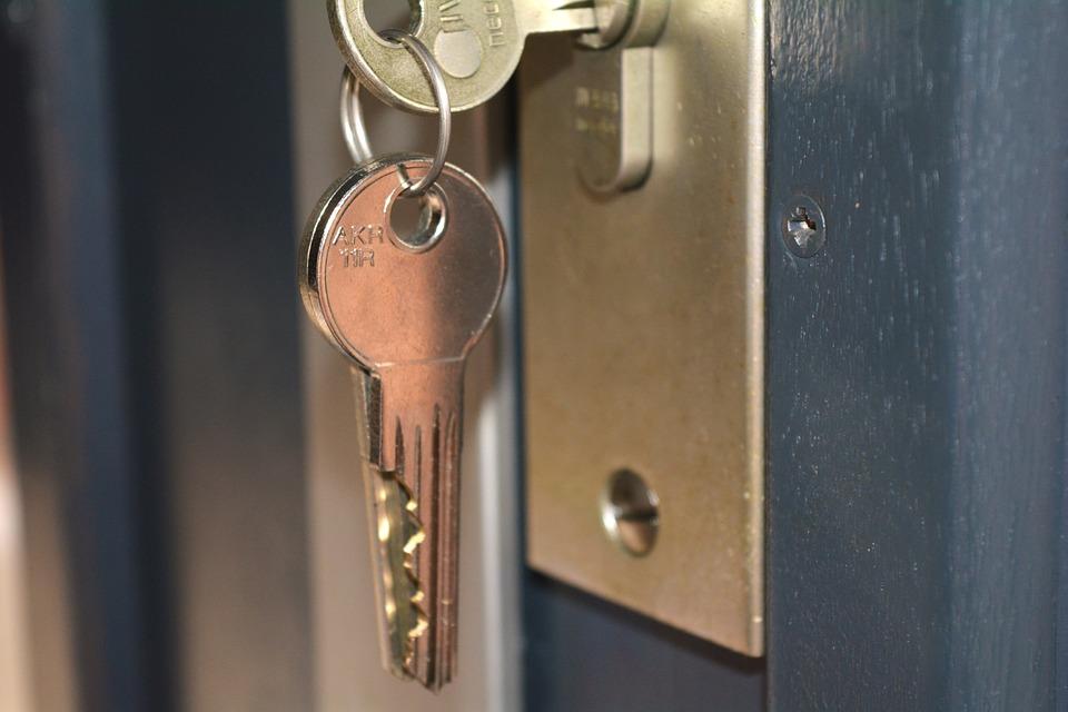 sleutel in deur